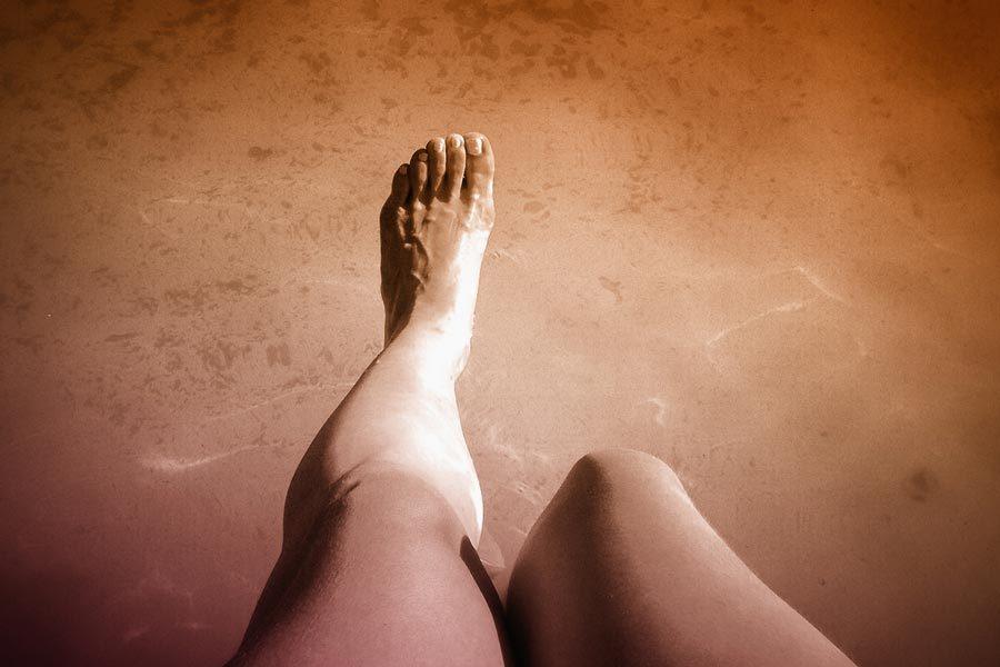 foot on ground